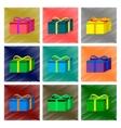 assembly flat shading style gift box vector image