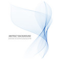 bluetransparentvertical wave on white vector image