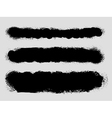 Grunge ink splattered background texture dividers vector image