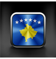 Kosovo flag stamp background country vector image