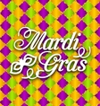 Pattern Background with Ornamental Text for Mardi vector image