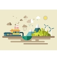 Urban Ecology environmental protection vector image