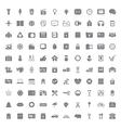 100 Universal icon vector image