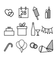 set of icons for the holidays vector image