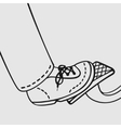 The foot on the gas pedal vector image vector image