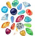 Array of precious stones vector image