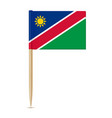 flag of namibia flag toothpick vector image vector image