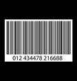 bar-code on black vector image
