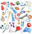 Watercolor sport doodle set vector image