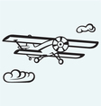 An airplane in the sky vector image vector image