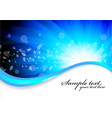 vector blue background with circle vector image vector image