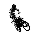 Rider participates motocross championship vector image vector image