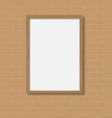 frame wood vector image