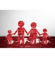 Family paper card vector image vector image