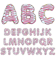 Donut font tasty alphabets isolated objects vector image