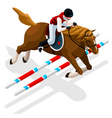 Equestrian Eventing 2016 Sports 3D vector image