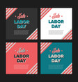 Labor day sale banners vector image
