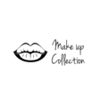 Make Up Collection Monochrome black and white lips vector image