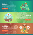 science of biology natural science vegetable vector image