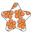 star tag japanese flower sakura culture vector image