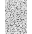 wavy pattern background - coloring page for adults vector image