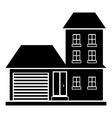 Big house with garage icon simple style vector image