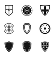 Military shield icons set simple style vector image