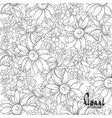 black and white sunflowers vector image vector image