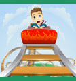 business roller coaster ride concept vector image
