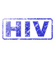 hiv rubber stamp vector image