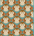 seamless pattern background tile - monkeys new vector image