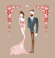 Beautiful couple getting maried vector image