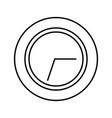 time clock symbol vector image