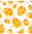 Orange diamond eggs seamless pattern vector image vector image