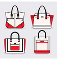 Purse icon set vector image