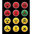 symbols of hazard black background vector image