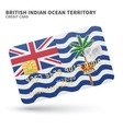 Credit card with British Indian Ocean Territory vector image
