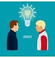 men The new idea vector image