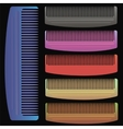 Set of Colorful Combs vector image