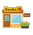 Books shop vector image