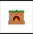 christmas holiday home scene vector image