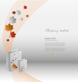 Creative shopping leaflet with stylized shopping vector image