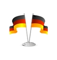 Germany table flag isolated vector image