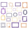 Hand drawn photoframes Doodle vector image