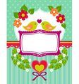 love birds card vector image