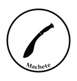 Machete icon vector image