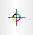 offset printing registration mark vector image