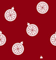 seamless pattern with a christmas ball vector image