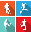 soccer players flat icons vector image