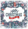 Merry Christmas VIntage Tag Design On Planks vector image